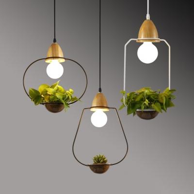 hallway cage led pendant ceiling light metal rustic black white lighting fixture with 39 adjustable cord