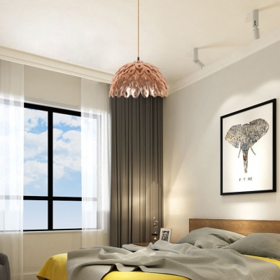Metal Peacock Hanging Light Bedroom Foyer 1 Bulb Modern Creative Hanging Lamp In Chrome Beautifulhalo Com