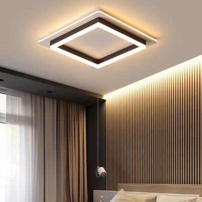 integrated led geometric flush mount light modern simple metal living room ceiling light