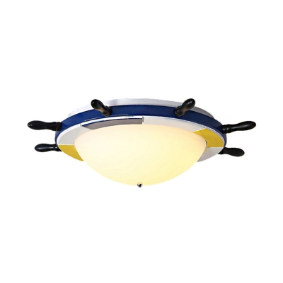 multi colored flush ceiling lights coastal metal and wood 1 light flush mount lighting for bedroom