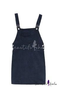 Plain Zipper Pockets Fitted Tweed Pencil Dress ...