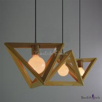 Wooden Triangle Brilliant Design Large Pendant Light for ...