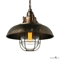 Nautical Rust Iron Metal LED Pendant Light - Beautifulhalo.com