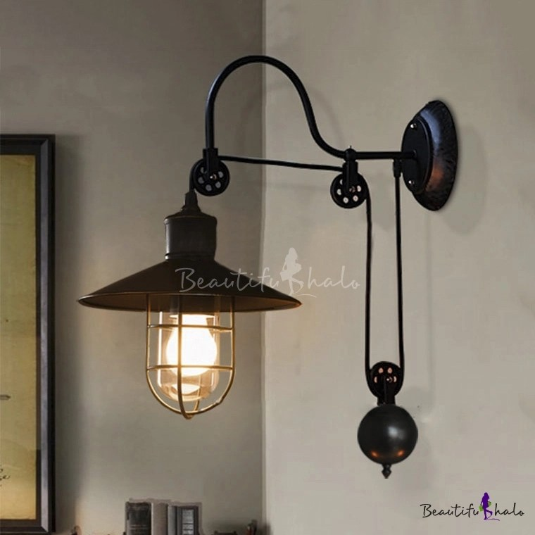 Industrial Farmhouse Style 1 Light Adjustable LED Wall