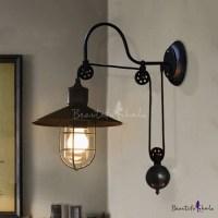 Industrial Farmhouse Style 1 Light Adjustable LED Wall ...
