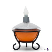 Solar Powered Energetic Orange Finish LED Outdoor ...