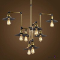 Industrial Style 8 Light Large LED Pendant Chandelier ...