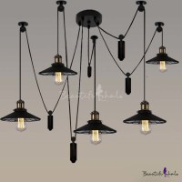 Buy Five Light Swag Multi Pendant Mirrored Shade at