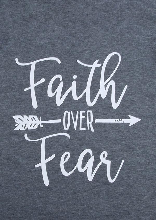 Faith Over Fear Arrow Batwing Sleeve TShirt  Bellelily