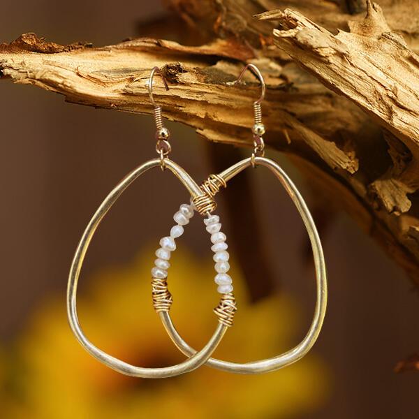 Women's Bead Water Drop Shaped Earrings
