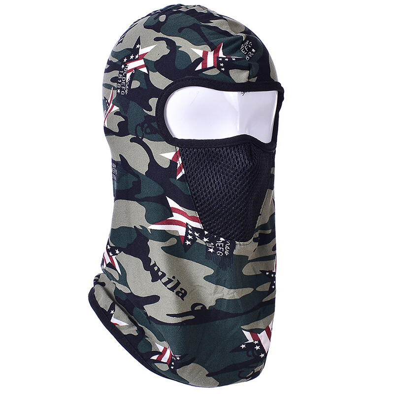 Camouflage Printed Sports Cycling Windproof Full Face Mask