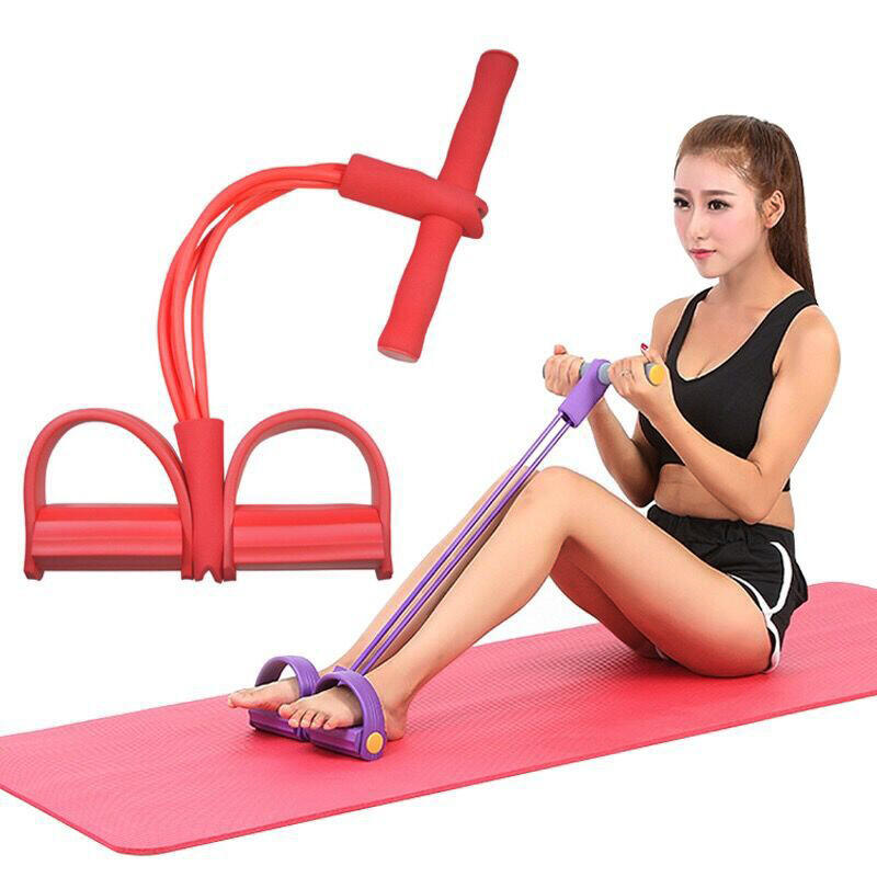 Resistance Training Bands Elastic Pull Rope Exercise Pedal Exerciser