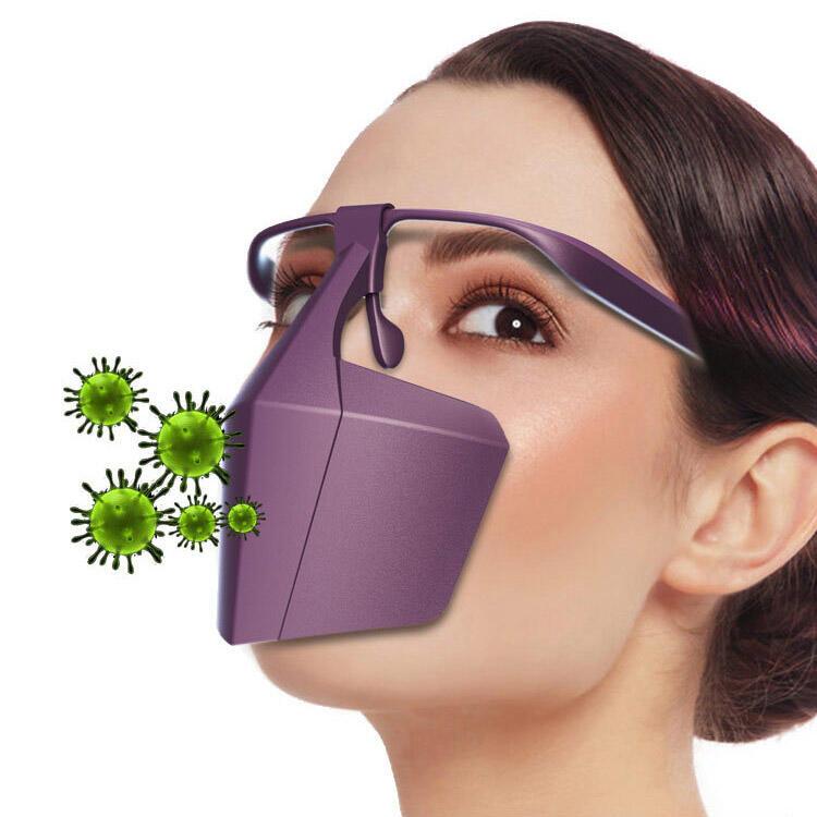 Anti-Fog Protective Plastic Breathable Face Mask