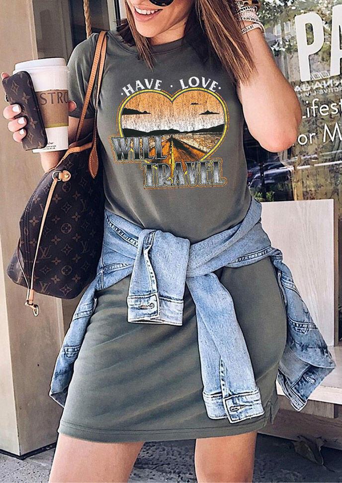 Have Love Will Travel Mini Dress - Dark Grey