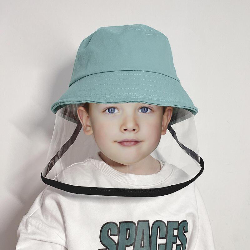 Children's Fisherman Hat with Splash-Proof Face Shield