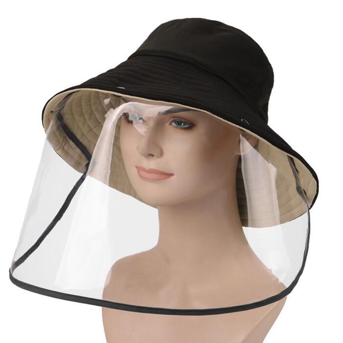 Detachable Splash-Proof Face Shield Fisherman Hat