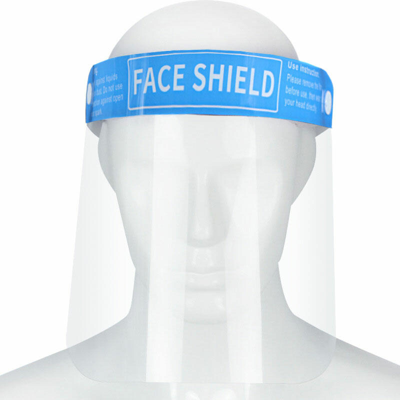 Splash-Proof Isolation Clear Face Shield