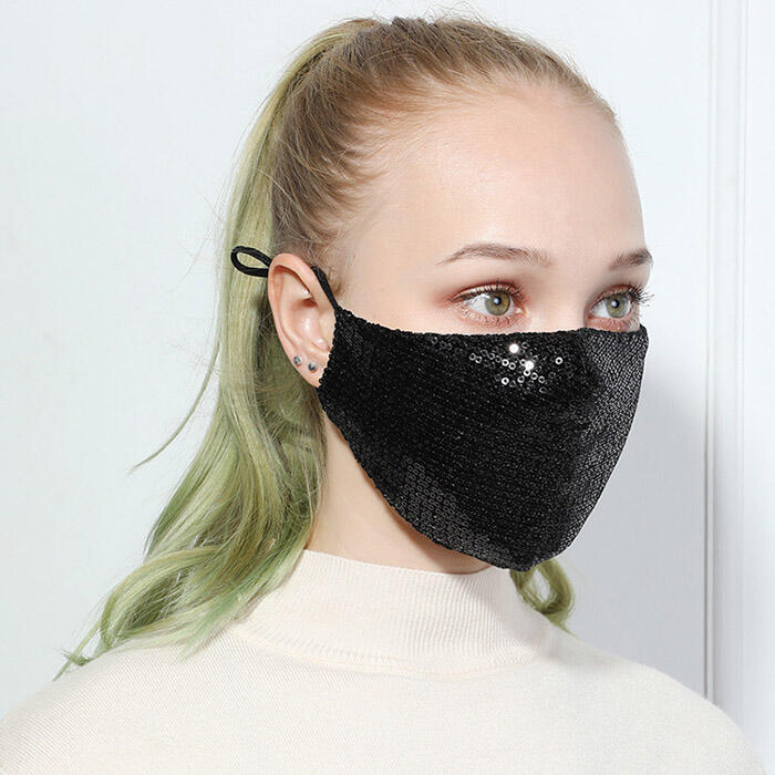 Anti-Dust Sequined Cotton Face Mask