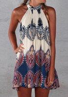 Sleeveless Printed Summer Dress