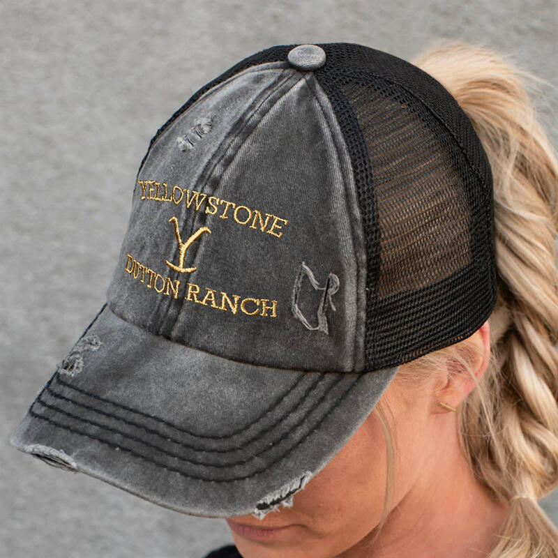 Yellowstone Mesh Splicing Criss-Cross Baseball Cap