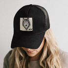 Wolf Freedom Eagle Mesh Splicing Baseball Cap