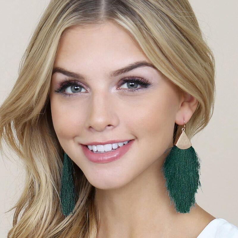 Bohemian Alloy Tassel Earrings