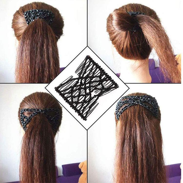 3Pcs Magic Elastic Beading Comb Hair Clip