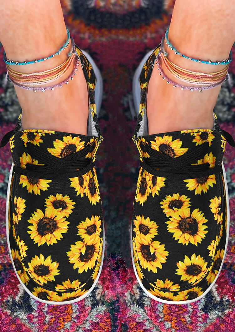 Sunflower??Lace Up Flat Canvas Sneakers