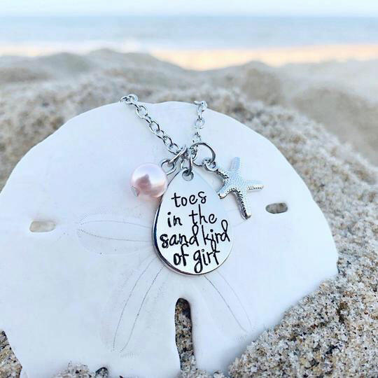 Starfish Pearl Toes In The Sand Kind Of Girl Pendant Necklace