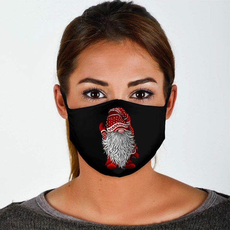 Christmas Gnome Cartoon Reusable Windproof Face Mask