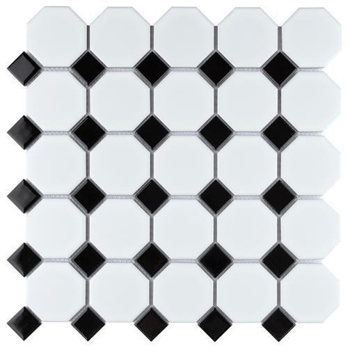 https www beltile com porcelain tiles glazed porcelain mosaics octagon and dot porcelain mosaic tiles