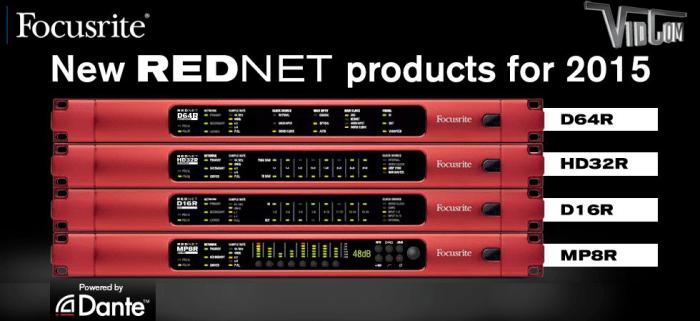 Focusrite RedNet Digital Audio Systems with Dante