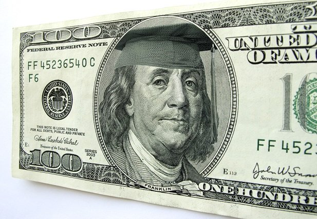 Franklin on currency wearing a beret