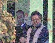 Luigi Martinelli al momento del rilascio degli ostaggi