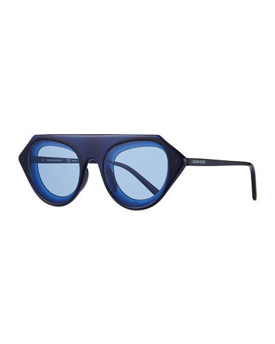 ffb3949094 Chunky Oval Acetate Sunglasses