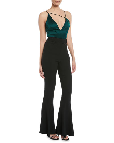 Charmeuse Deep V Asymmetric-Neck Cami and Matching Items