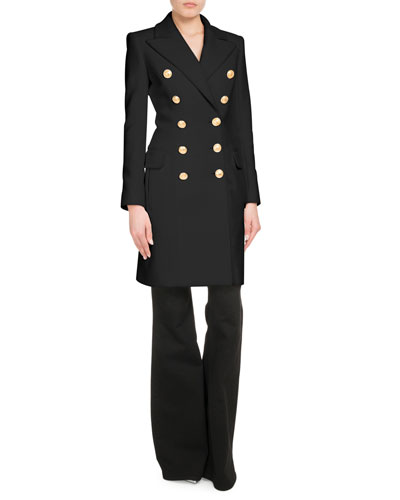 Ten Golden Button Wool-Cashmere Midi Coat and Matching Items