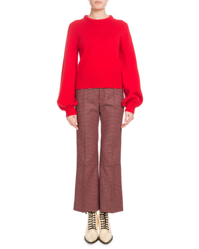 Iconic Cashmere Bubble-Sleeve Sweater and Matching Items