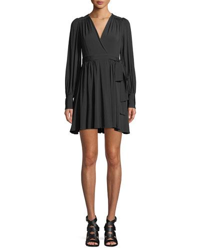 fcad5b22b9c4 Golden Long-Sleeve Wrap Mini Dress QUICK LOOK. Zimmermann