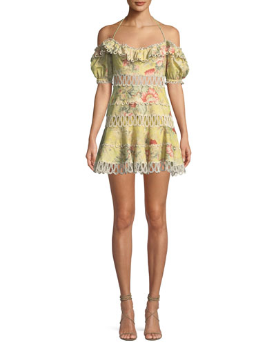 7ff3acd520bb Melody Off-the-Shoulder Floral Mini Dress QUICK LOOK. Zimmermann