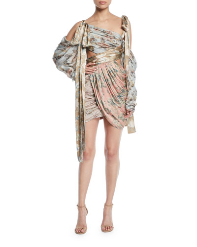 ae55fcdb492f Elixir Wrapped Floral Silk Mini Dress. Zimmermann
