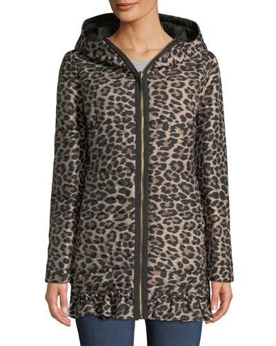 498005f92ae1 reversible leopard-print parka jacket
