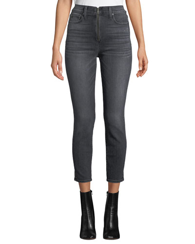1080938167c Good High-Rise Ankle Skinny Jeans with Exposed Zip Fly