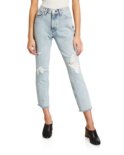 a5bf904b1f3d High-Rise Distressed Ankle Skinny Jeans