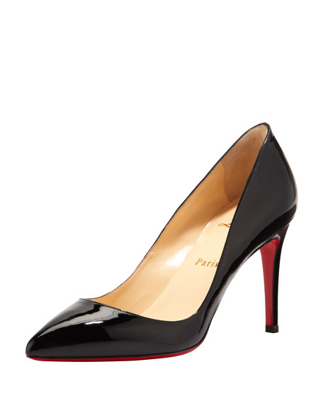 Christian Louboutin Pigalle Patent Red Sole Pump Black