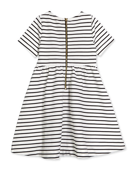 kate spade new york kammy striped stretch-sateen dress