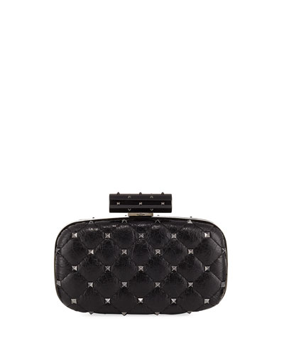 Rockstud Spike Quilted Minaudiere Bag