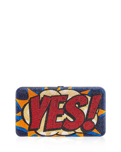 Yes! No! Airstream Crystal Clutch Bag
