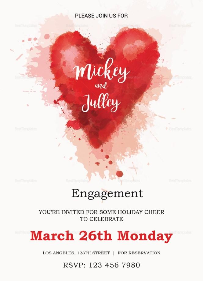 Colorful Engagement Invitation Card Design