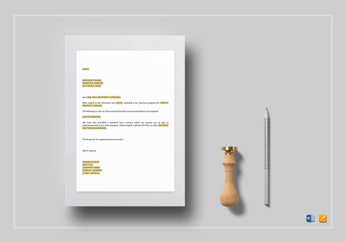 Short Letter Enclosing Proposal Template